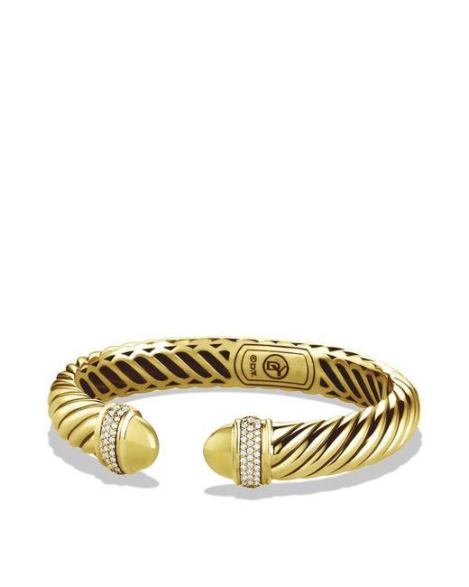 David Yurman | Yellow Waverly Bracelet With Diamonds In Gold | Lyst
