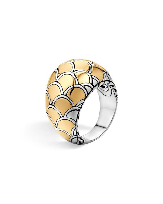 John Hardy | Metallic Sterling Silver & 18k Gold Naga Dome Ring | Lyst