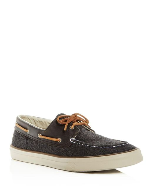 Sperry Top-Sider - Gray Men's Bahama Ii Wool & Leather Boat Shoes for Men - Lyst