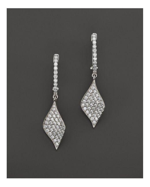 Roberto Coin   18k White Gold Diamond Drop Earrings   Lyst