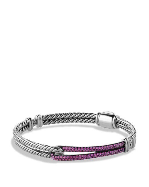 David Yurman | Metallic Petite Pavé Labyrinth Single Loop Bracelet With Pink Sapphires | Lyst