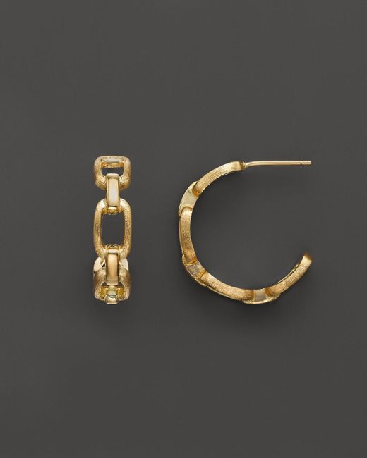 Marco Bicego | Metallic Murano 18k Yellow Gold Hoop Earrings | Lyst