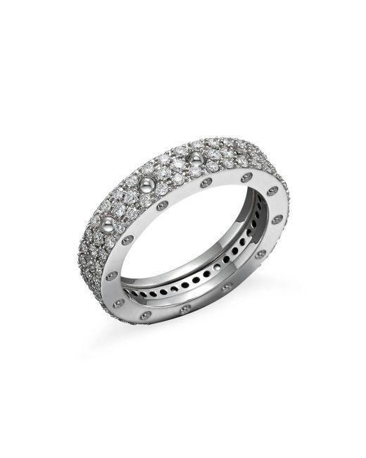 Roberto Coin | 18k White Gold Pois Moi Diamond Pave Ring | Lyst