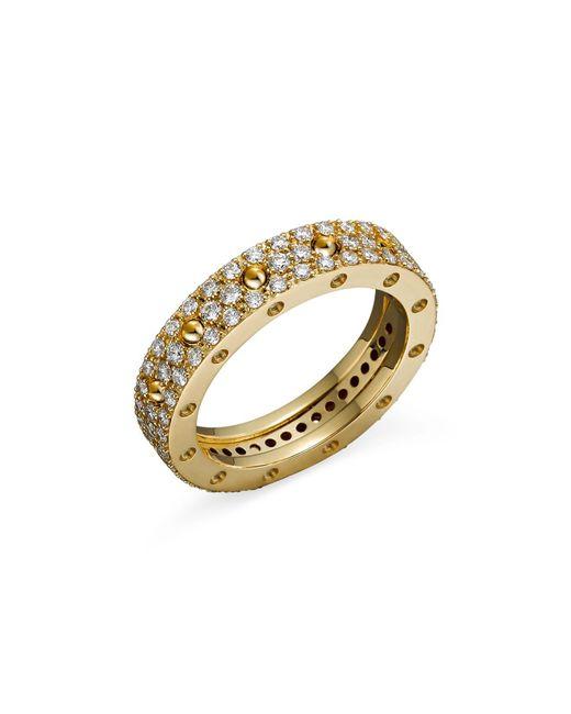 Roberto Coin   Metallic 18k Yellow Gold Pois Moi Diamond Pavé Ring   Lyst