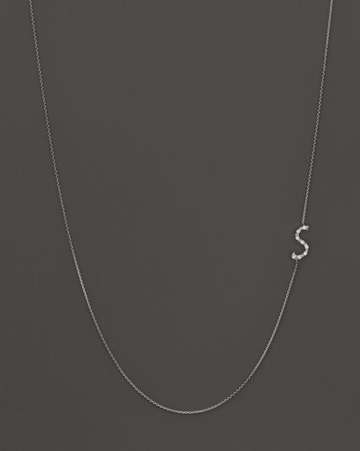 KC Designs | Diamond Side Initial S Necklace In 14k White Gold, .05 Ct. T.w. - 100% Exclusive | Lyst