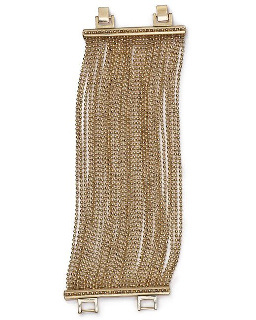 ABS By Allen Schwartz   Metallic Call Of The Wild Ball Chain Bracelet   Lyst