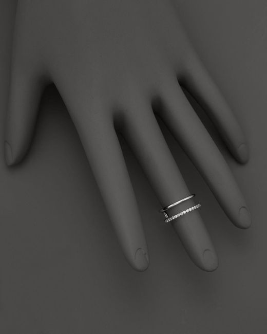 KC Designs   Double Row Midi Ring In 14k White Gold - 100% Exclusive   Lyst