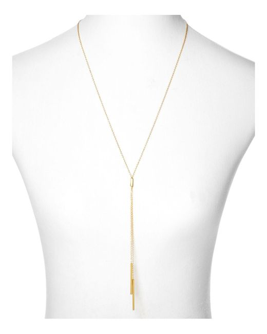 Gorjana | Metallic Mave Lariat Necklace, 18.5"