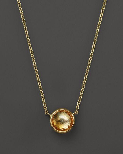 "Ippolita | 18k Gold Mini Lollipop Necklace In Orange Citrine, 16"" | Lyst"