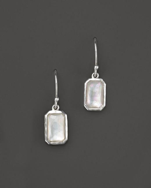 Ippolita | White Sterling Silver Wonderland Rectangular Drop Earrings In Mother-of-pearl | Lyst