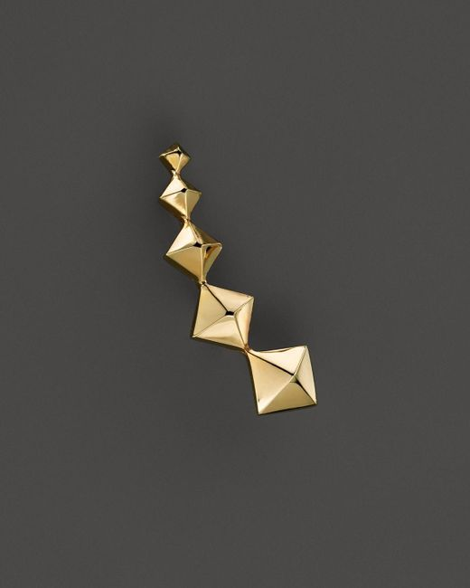 Zoe Chicco | Metallic 14k Yellow Gold Graduated Pyramid Single Ear Cuff, Left | Lyst