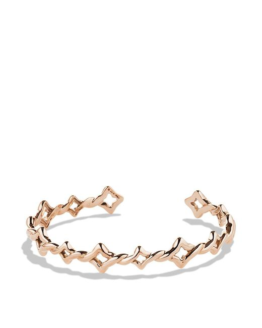 David Yurman | Pink Venetian Quatrefoil Single-row Cuff Bracelet In Rose Gold | Lyst
