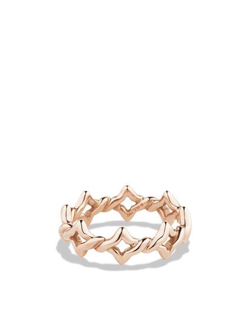 David Yurman | Pink Venetian Quatrefoil Stacking Ring In Rose Gold | Lyst