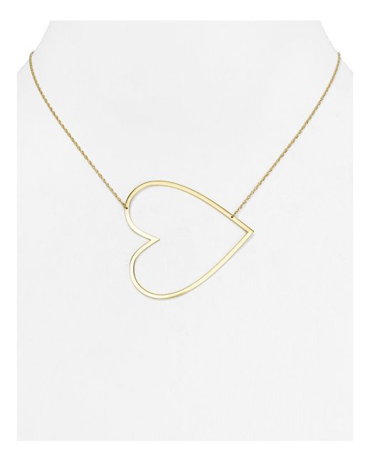 Jennifer Zeuner | Metallic Marissa Large Heart Necklace, 18"