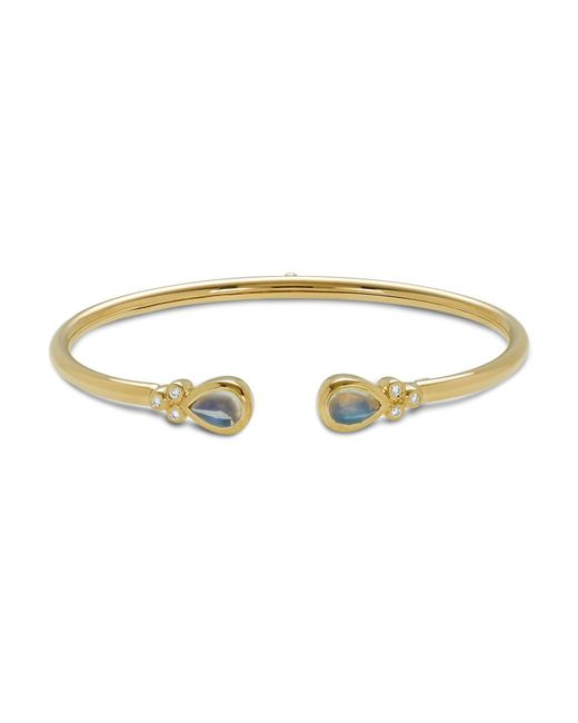 Temple St. Clair | Metallic 18k Yellow Gold Bellina Bracelet With Royal Blue Moonstone And Diamonds | Lyst