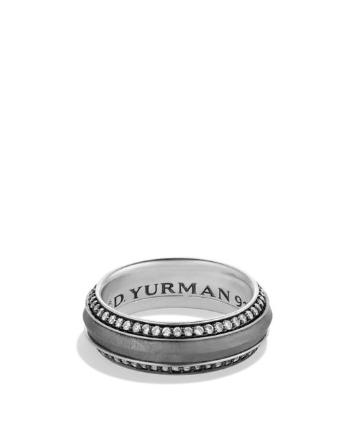 David Yurman | Metallic Meteorite Knife-edge Band Ring With Gray Sapphires for Men | Lyst