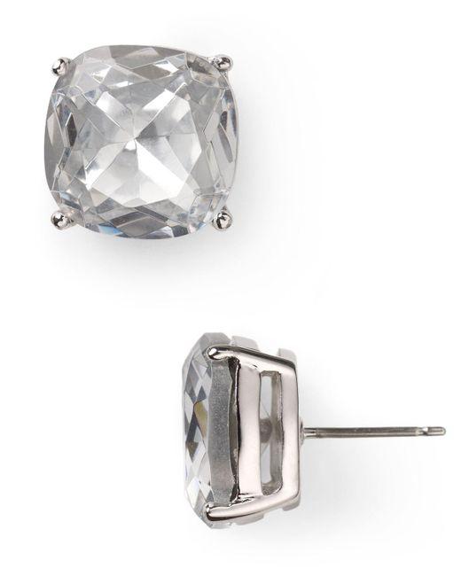 kate spade new york | Metallic Small Square Stud Earrings | Lyst
