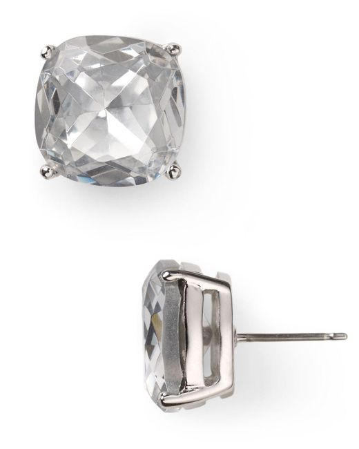 kate spade new york | Metallic Small Square Stud Earrings | Lyst