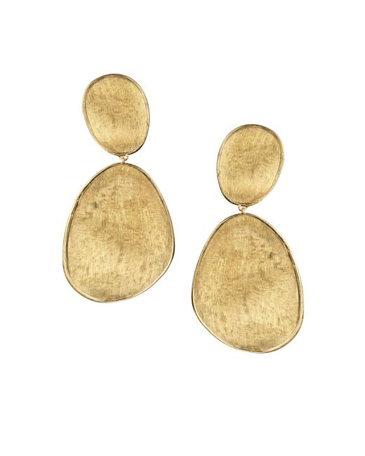 Marco Bicego | Metallic 18k Yellow Gold Lunaria Two Drop Earrings | Lyst
