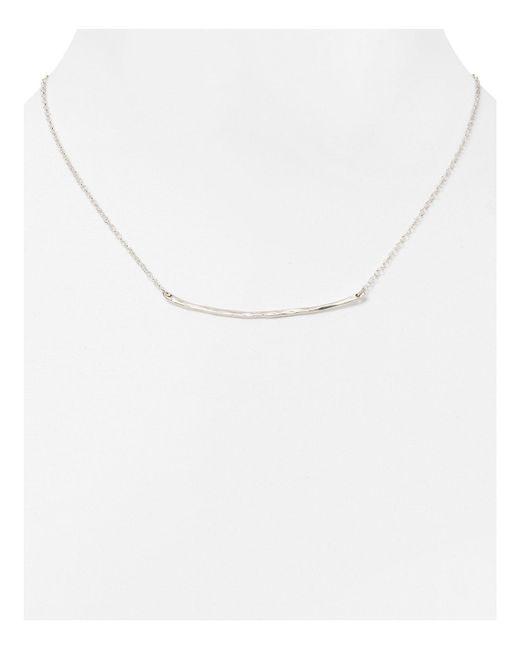 "Gorjana | Metallic Small Taner Bar Necklace, 16.75"" | Lyst"