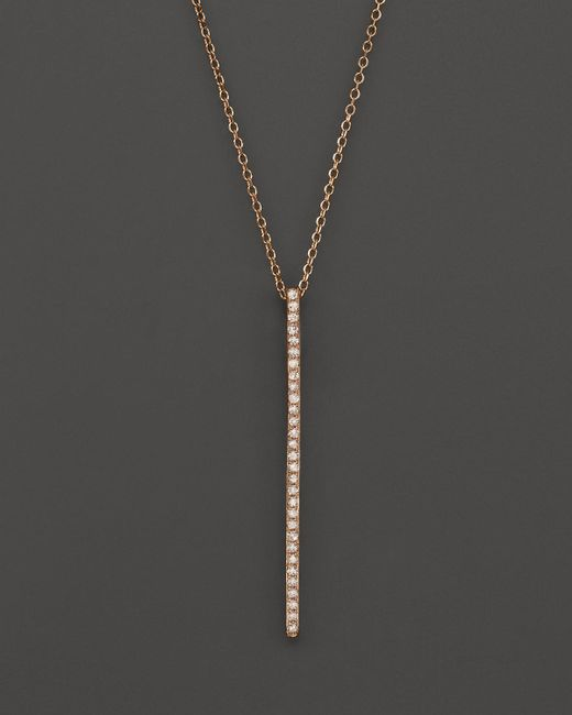 KC Designs | Pink Diamond Stick Pendant Necklace In 14k Rose Gold, .10 Ct. T.w. | Lyst