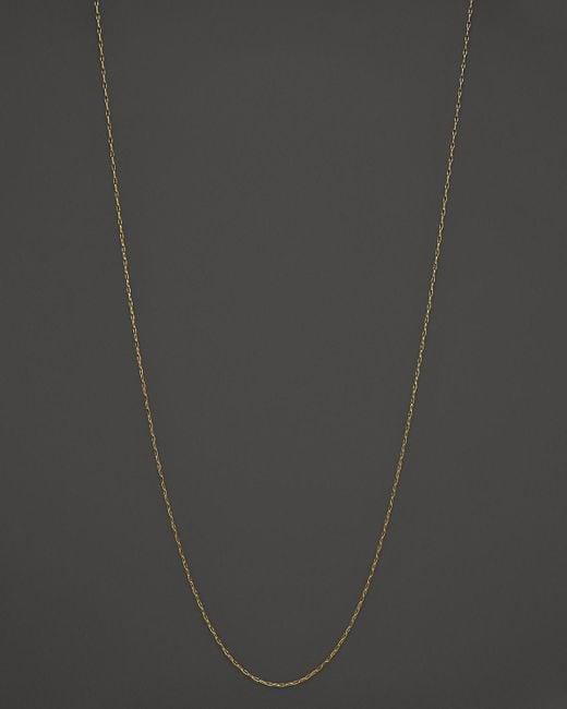 "Monica Rich Kosann | Metallic 18k Yellow Gold Delicate Belcher Chain, 30"" | Lyst"
