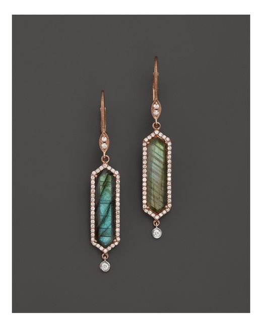 Meira T | Pink 14k Rose Gold Labradorite Drop Earrings | Lyst