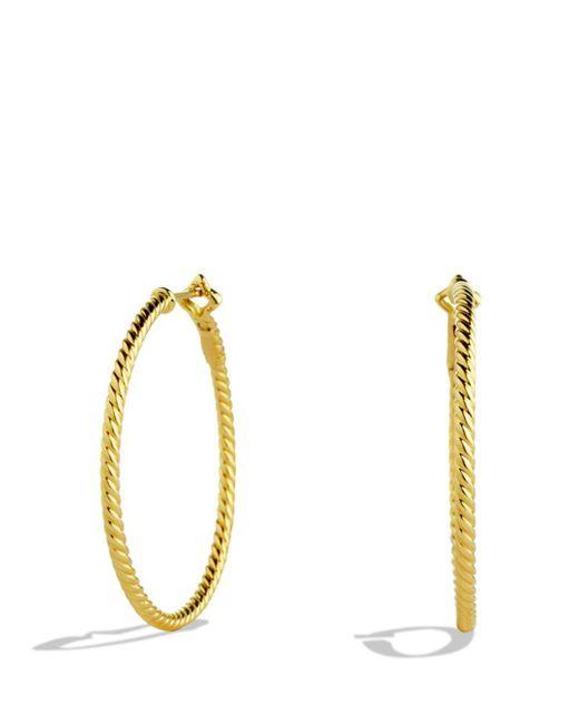 David Yurman - Metallic Cable Classics Hoop Earrings - Lyst