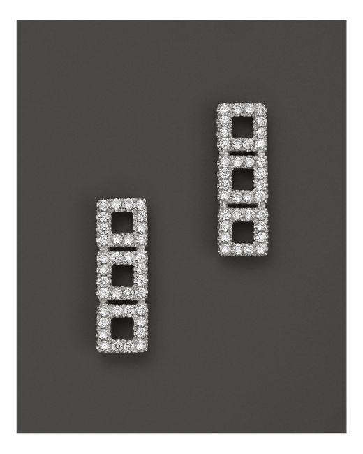 Dana Rebecca | 14k White Gold Allison Joy Square Earrings With White Diamonds | Lyst