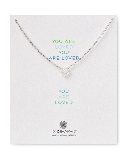 Dogeared | Metallic You Are Loved Open Heart Necklace, 18"
