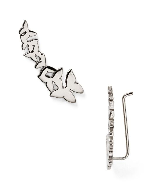 Jennifer Zeuner | Metallic Symone Butterfly Ear Cuffs | Lyst