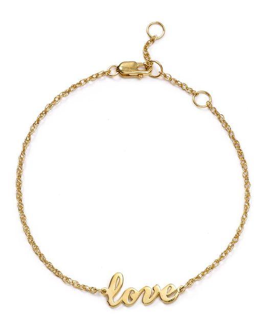 Jennifer Zeuner   Metallic Addison Cursive Love Bracelet   Lyst