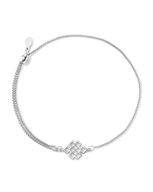 ALEX AND ANI | Metallic Precious Metals Symbolic Endless Knot Pull Chain Bracelet | Lyst