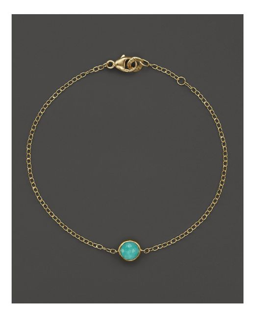 Ippolita | Metallic 18k Gold Mini-lollipop Bracelet In Turquoise | Lyst