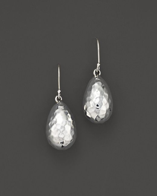 Ippolita | White Sterling Silver Glamazon Medium Raindrop Bead Earrings | Lyst