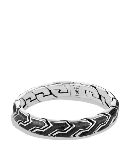 David Yurman | Metallic Forged Carbon Link Bracelet for Men | Lyst