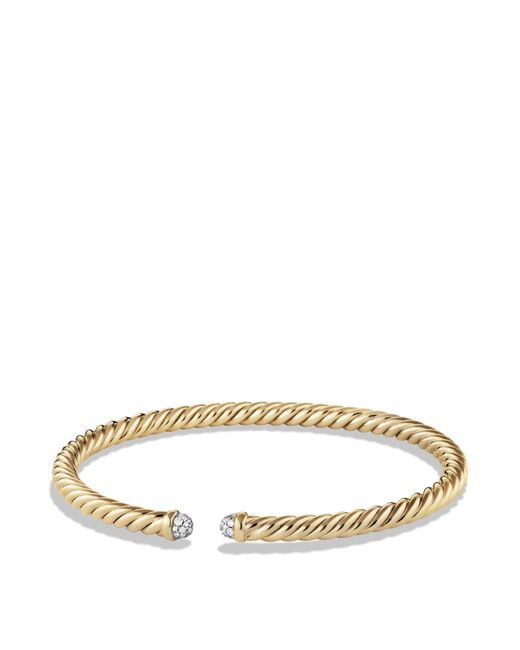 David Yurman | Metallic Precious Cable Cablespira Bracelet With Diamonds In Gold | Lyst