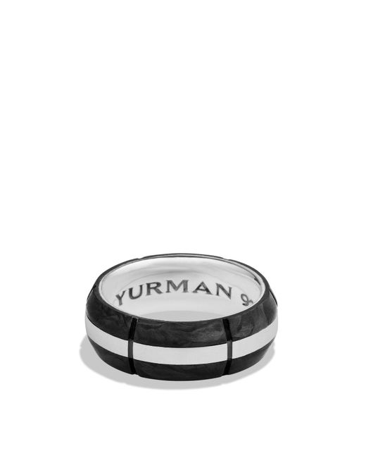 David Yurman | Metallic Forged Carbon Band Ring for Men | Lyst
