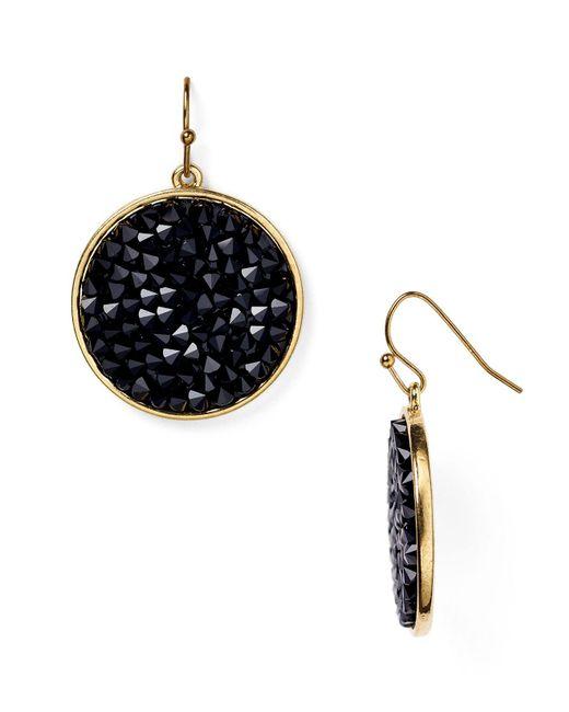 ABS By Allen Schwartz | Black Bead Set Drop Earrings | Lyst