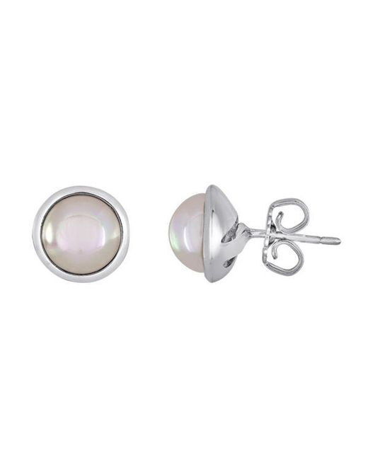 Majorica | White Simulated Pearl Stud Earrings | Lyst