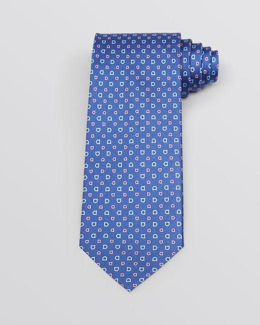 Ferragamo | Blue Beach Print Silk Tie for Men | Lyst
