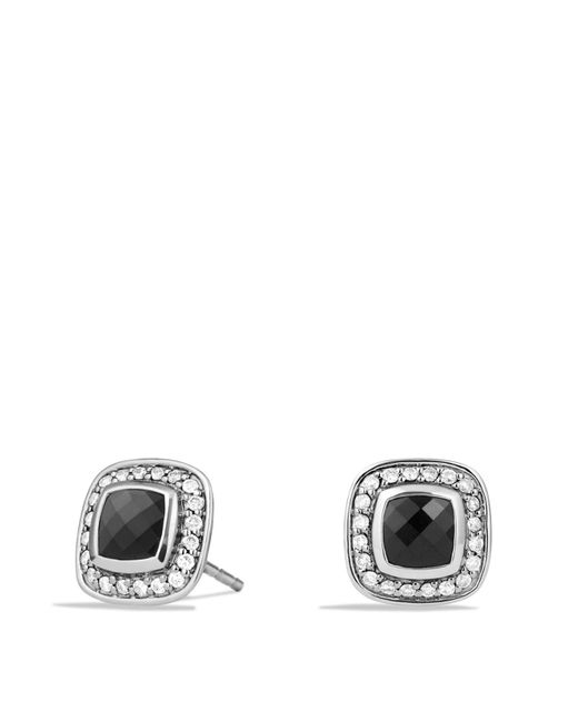 David Yurman | Metallic Petite Albion Earrings With Black Onyx And Diamonds | Lyst