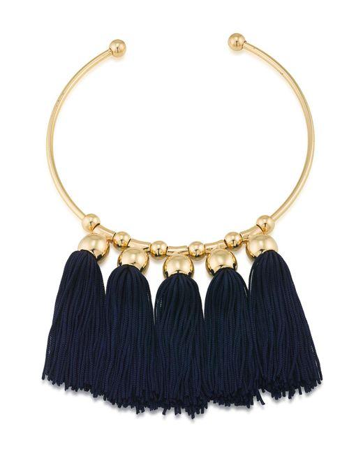 Trina Turk | Blue Tassel Collar | Lyst