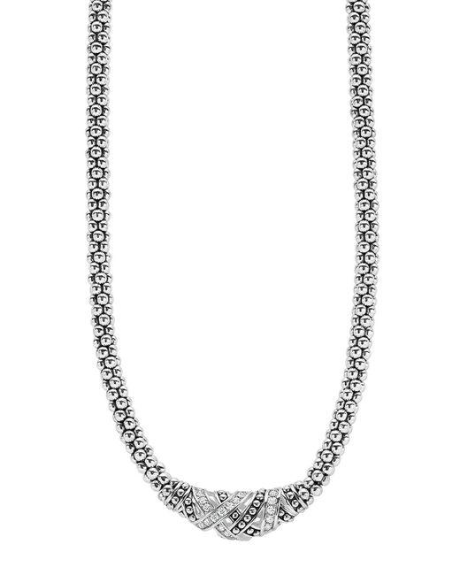 Lagos | Metallic Caviar Station Two Tone Necklace | Lyst