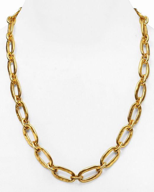 "Uno De 50 | Metallic Chain Link Necklace, 24"" | Lyst"