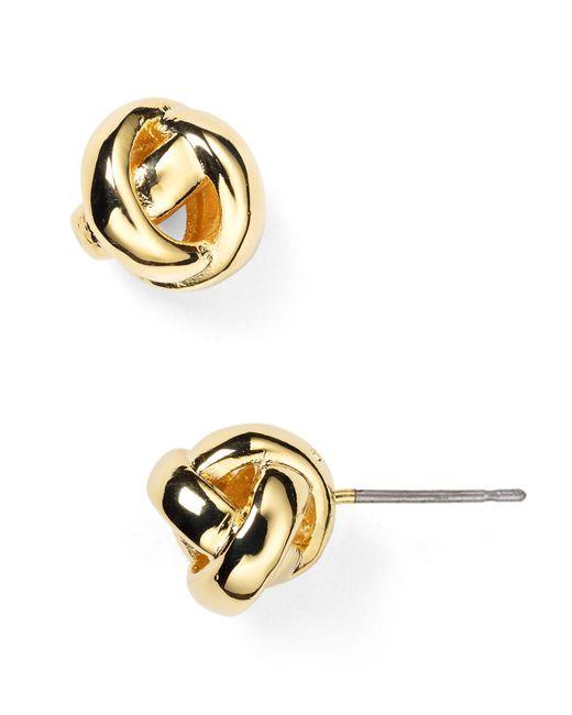Kate Spade | Metallic Dainty Sparklers Knot Stud Earrings | Lyst