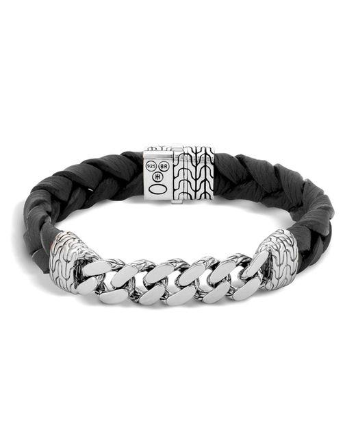 John Hardy   Metallic Men's Sterling Silver Classic Chain Gourmette Medium Link Id Bracelet   Lyst