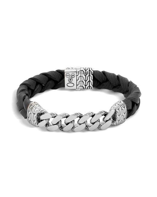 John Hardy | Metallic Men's Sterling Silver Classic Chain Gourmette Medium Link Id Bracelet | Lyst