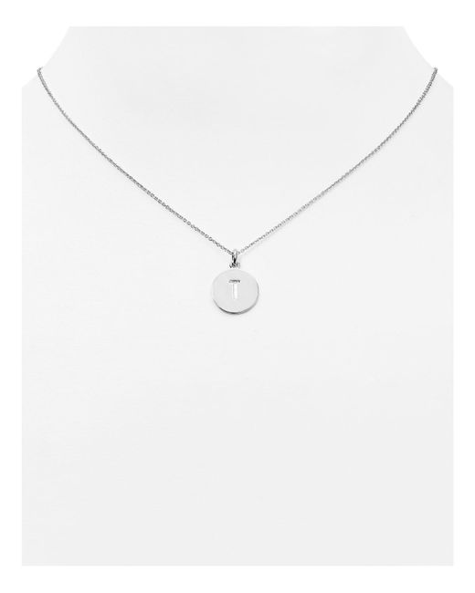 kate spade new york | Metallic One In A Million Initial Pendant Necklace, 18"