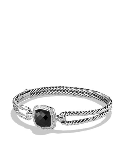 David Yurman | Metallic Albion Bracelet With Black Onyx And Diamonds | Lyst